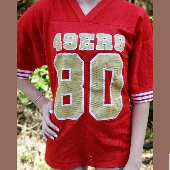 newest 9148e 7d7b9 San Francisco 49ers Jersey Vintage Jerry Rice 80